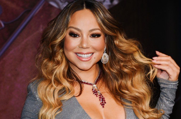 "Mariah Carey participates in the ceremonial lighting of the Empire State Building to commemorate the 25th anniversary of the release of her single ""All I Want For Christmas Is You"" on Dec. 17, 2019, in New York."